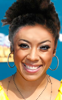 Keyshia Cole with a curly updo