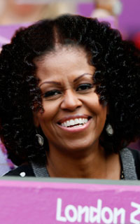 Michelle Obama with a curly twist out