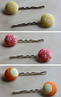 button hair pins