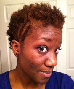 Priscilla with flat twist-out and flat twists on the side