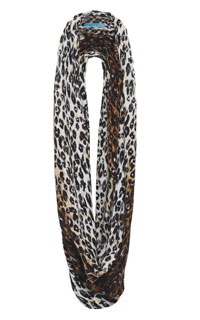 sequined leopard print scarf