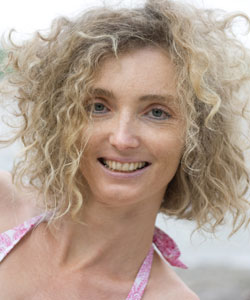 woman with curly bob