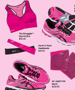 Asics Merchandise for Breast Cancer