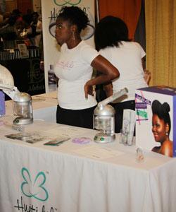 Huetiful hair steamer booth at 15th Annual Taliah Waajid World Natural Hair Show