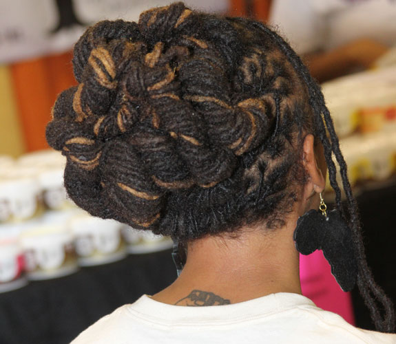 twisted locs updo