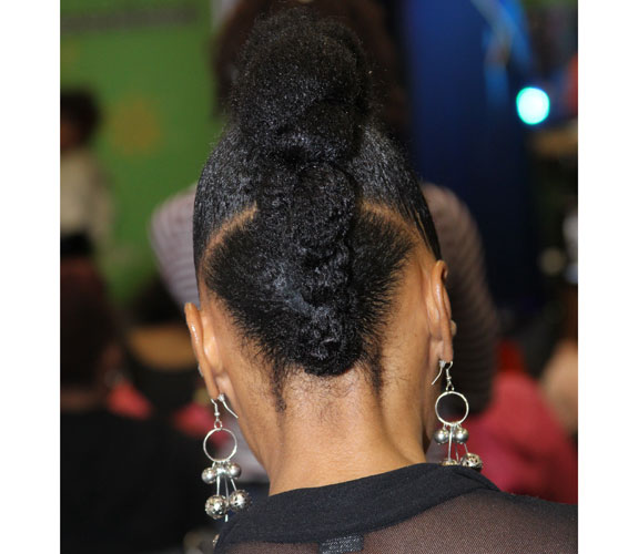big twisted updo with pompadour