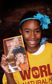 daughter of a volunteer at Taliah Waajid World Natural Hair Show