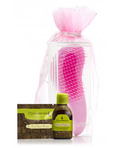 Macadamia natural oil Limited Edition Pink No Tangle Brush Set