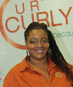 Monica Carruthers creator of UR Curly line
