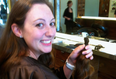Nicole Donates Hair to Wigs for Kids