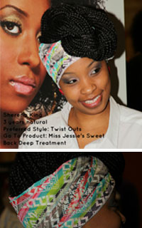 Sherena King at Taliah Waajid World Natural Hair Show