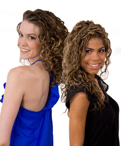 Models with curly hair for RevUp! Volumizing system from Curly Hair Solutions