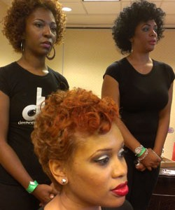 Natural hair color trends at Fro fashion week fall 2012