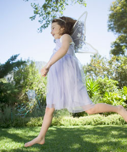 Leaping curly fairy
