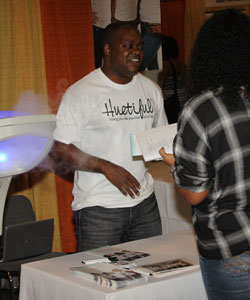 Huetiful hair steamer Booth at 15th Annual Taliah Waajid World Natural Hair Show