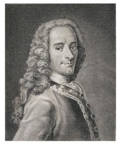 Maurice Quentin de La Tour, Francois Marie Arouet de Voltaire