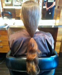 Nicole Binnicker's ponytail