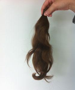 Nicole Binnicker's ponytail donation