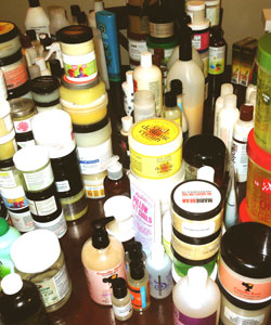 Lisa Michelle curly hair product stash