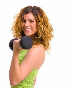 exercise with curls