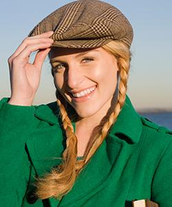 braids under a hat