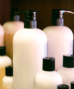 Hair product bottles