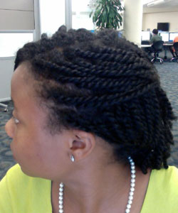 mini twists, pinned side view