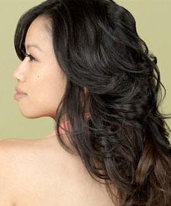 wavy hair volume