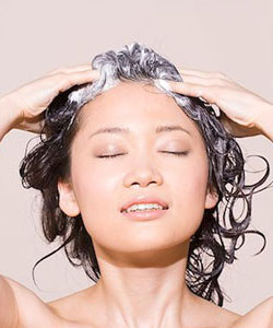 shampoo your scalp