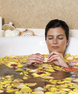 Soothe your skin to lower stress