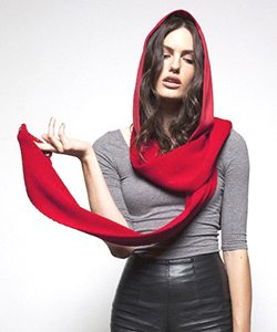 Schoodie Double Knit Hooded Scarf