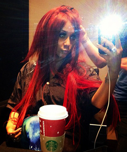 snookie goes fiery red