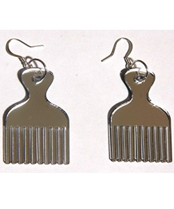Afro-pick earrings