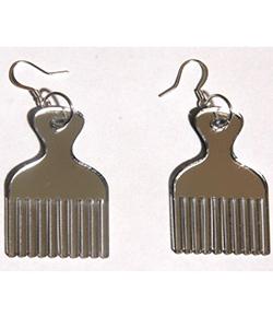 Afro-pick earrings