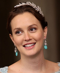 Leighton Meester in a crystal embellished hair accessory