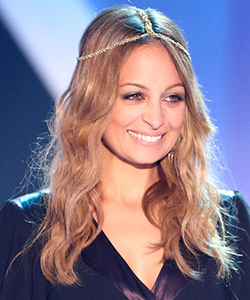 Nicole Richie in a hair accessory at the HALO Awards