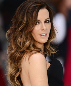 Kate Beckinsale curly hair, August 2012