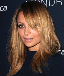 Nicole Richie layered hair, August 2012