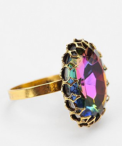 Sunburst Stone Ring