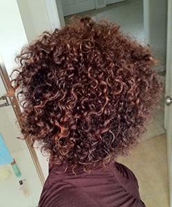 Devri Velazquez's fabulous curly hair