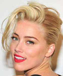 Amber Heard's French Twist
