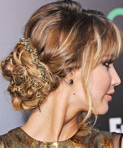 Jennifer Lawrence's embellished bun