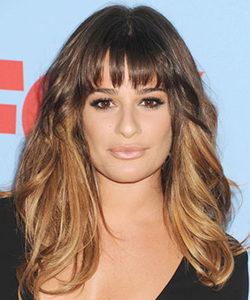 Lea Michele's ombre hair color