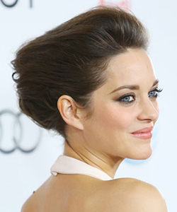 Marion Cotillard's outstretched updo