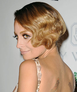 Nicole Richie with finger waves