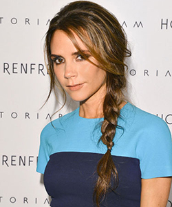 Victoria Beckham's messy side braid