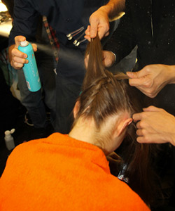 Backstage Badgley Mischka hair