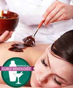 Woman receiving chocolate spa treatment