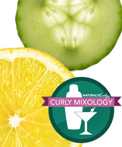 Lemon and cucumber curly mixology
