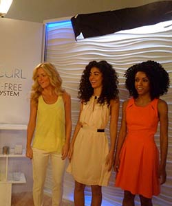 Curly Models at L'Oreal Paris EverCurl video shoot